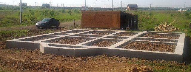 Строительство деревянного дома, фундамент свайно-ростверковый