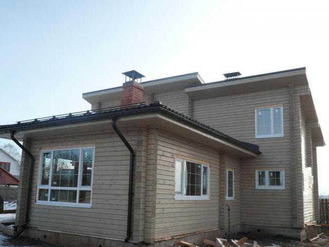 Дом из профилированного бруса по личному проекту.