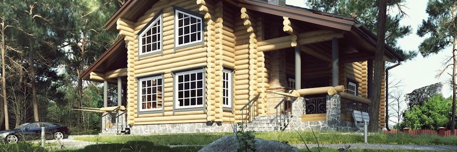 Проекты деревянных домов Проект дома из бревна